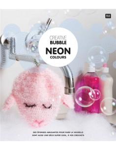 Creative Bubble Neon colours : réaliser au crochet de drôles d'éponges pour la vaisselle