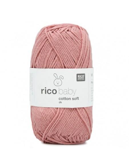 Pelote Rico baby cotton soft dk rose foncé