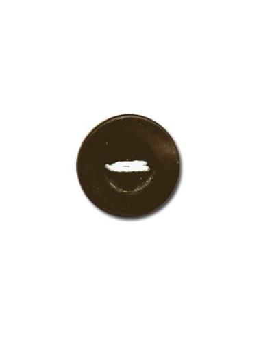 Bouton Rond 9mm Chocolat