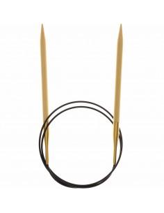 Aiguilles à tricoter circulaires Bambou 80cm n°6