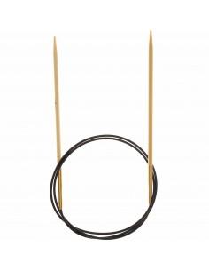 Aiguilles à tricoter circulaires Bambou 80cm n°3,5