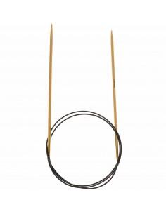 Aiguilles à tricoter circulaires Bambou 80cm n°3