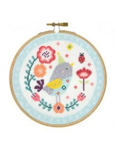 Kit point de croix petit oiseau