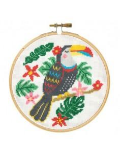 Kit point de croix toucan