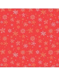 Tissu en coton collection Skogen metallic Snowflakes