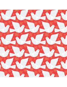 Tissu en coton collection Skogen metallic Doves