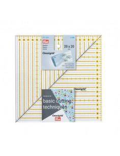 Règle universelle quadrillage Patchwork 20 x 20 cm