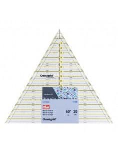 Règle patchwork triangle multi 20 cm omnigrid