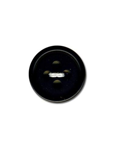 Bouton Rond 15mm Noir