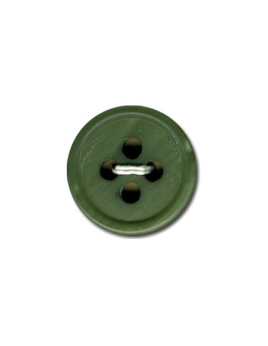 Bouton Rond 15mm Vert army