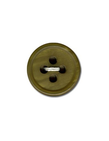 Bouton Rond 15mm Vert olive