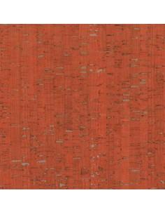 Tissu en liège orange et argenté