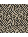 Tissu en liège impression zèbre et doré