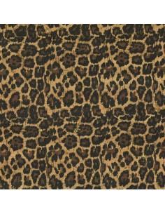 Tissu en liège impression léopard et doré