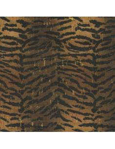 Tissu en liège impression tigre et doré