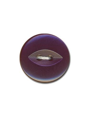 Bouton Fish-eye 14mm Orchidée irisé