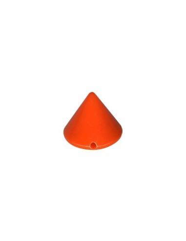 Dôme en plastique à coudre Orange fluo