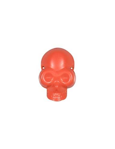 Tête de mort à coudre Orange fluo