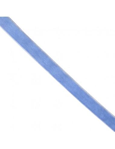 Ruban de velours 16mm Bleu layette