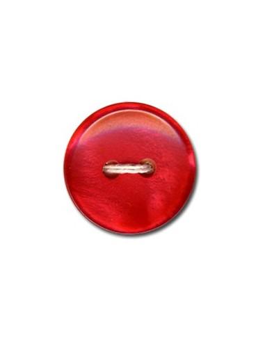 Bouton Classique 12mm Rouge