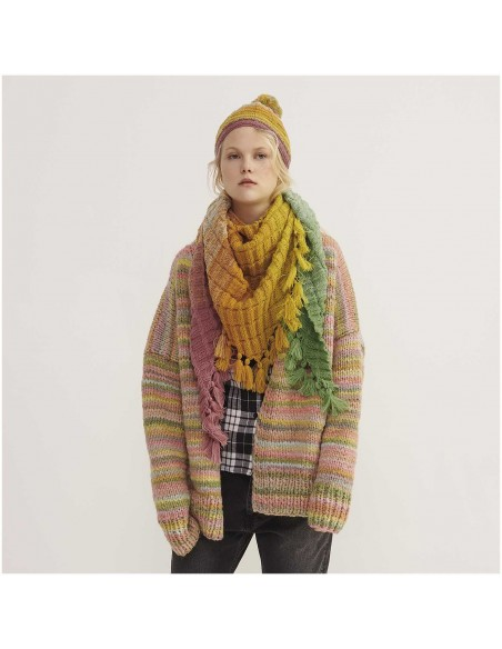 Pelote Creative wool dégradé super 6 orange-vert