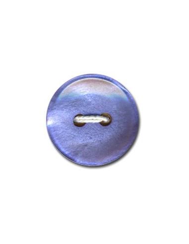 Bouton Classique 15mm Bleu