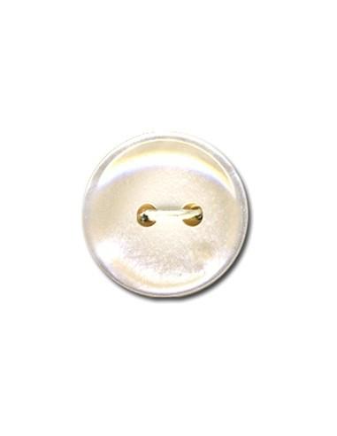 Bouton Classique 15mm Blanc