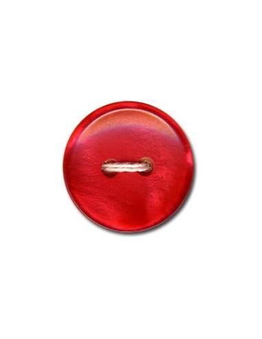 Bouton Classique 15mm Rouge