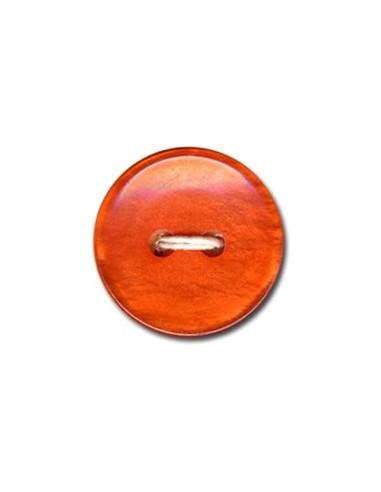 Bouton Classique 18mm Mandarine