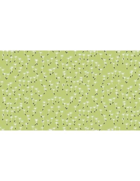 Tissu en coton Meadow - Dandilion vert