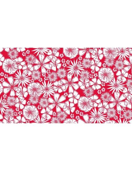 Tissu en coton Meadow - Flower Press Rouge