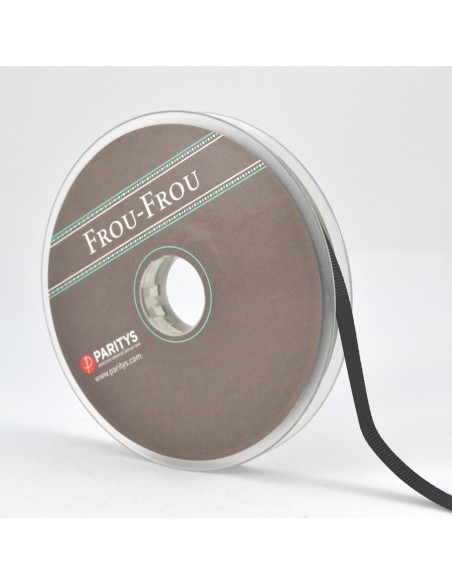 Ruban Gros grain unis 6mm Noir
