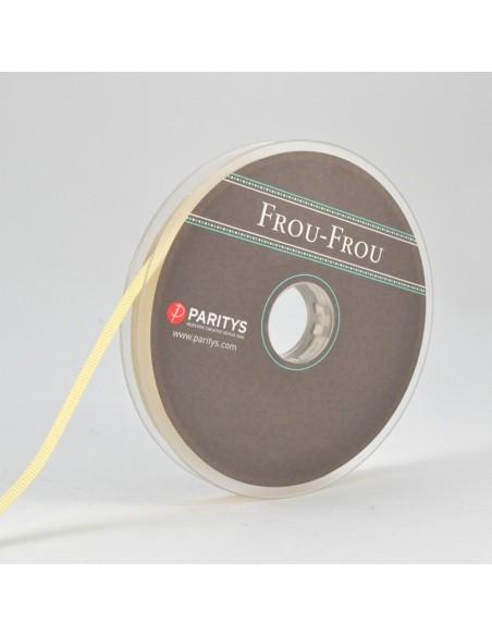 Ruban Gros grain unis 6mm Ivoire