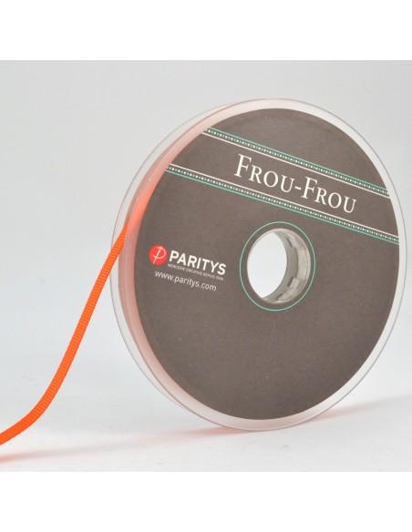 Ruban Gros grain unis 6mm Orange