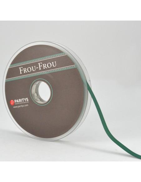 Ruban Gros grain unis 6mm Vert épinard