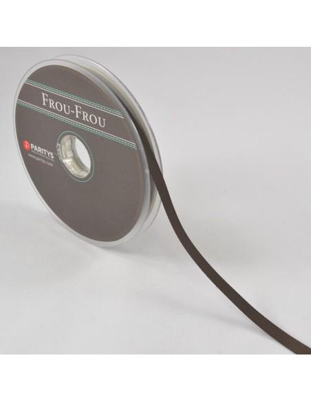 Ruban Gros grain unis 6mm Chocolat