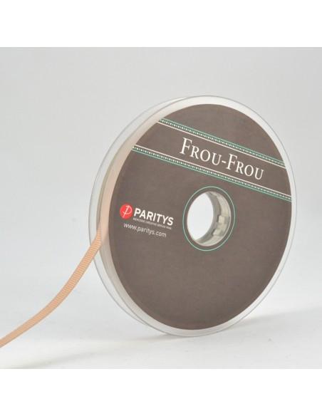 Ruban Gros grain unis 6mm Sable
