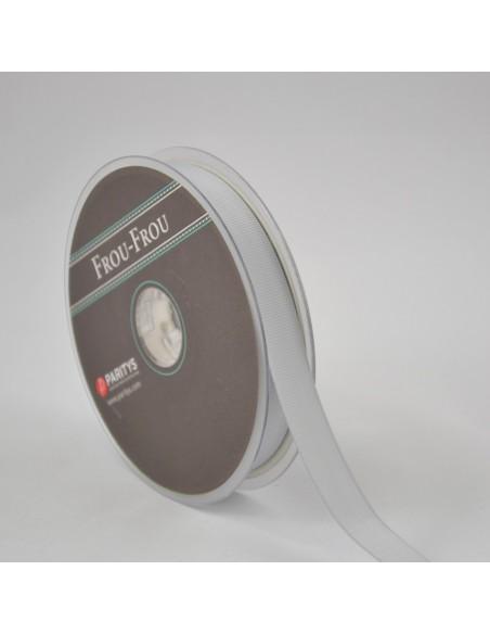 Ruban Gros grain unis 16mm Gris souris