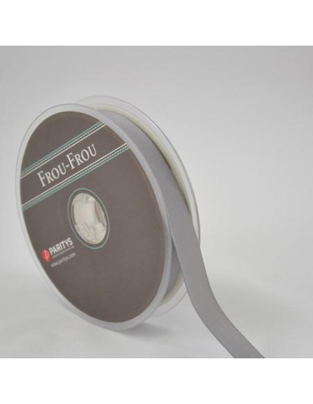 Ruban Gros grain unis 16mm Gris ciment