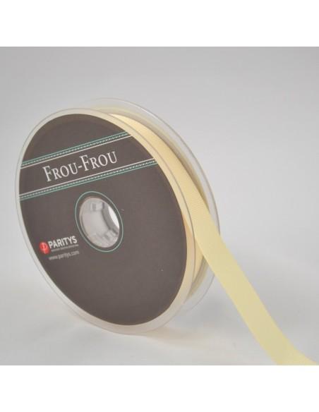 Ruban Gros grain unis 16mm Ivoire