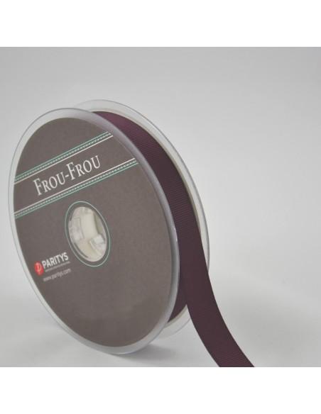 Ruban Gros grain unis 16mm Prune