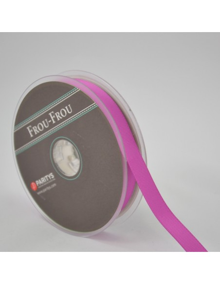 Ruban Gros grain unis 16mm Magenta