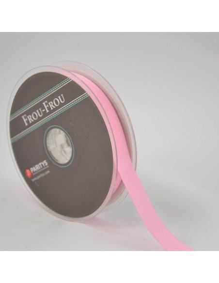 Ruban Gros grain unis 16mm Rose perle