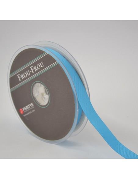 Ruban Gros grain unis 16mm Bleu azur