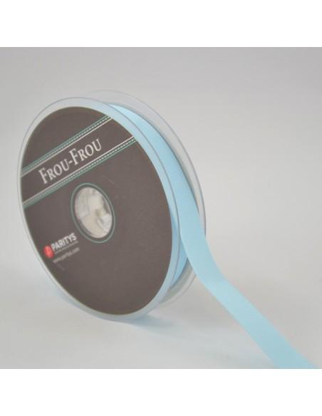 Ruban Gros grain unis 16mm Bleu layette