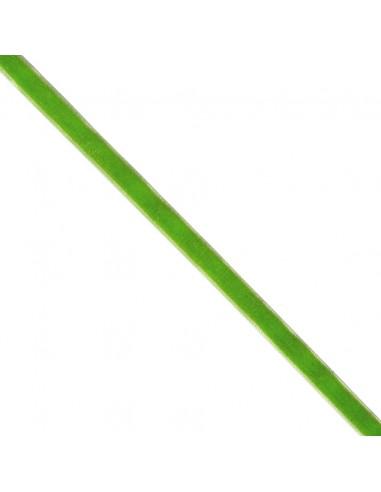 Ruban de velours 9mm vert prairie
