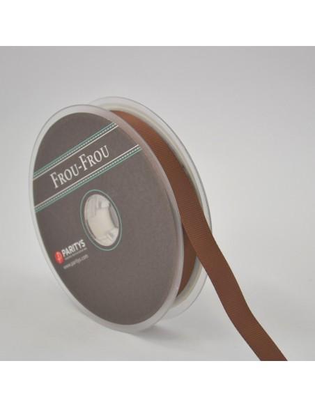 Ruban Gros grain unis 16mm Caramel
