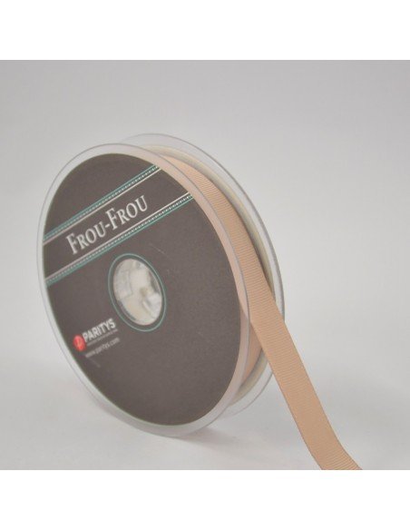 Ruban Gros grain unis 16mm Sable