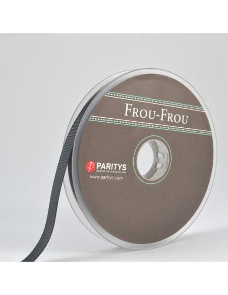 Ruban Gros grain unis 9mm Gris taupe