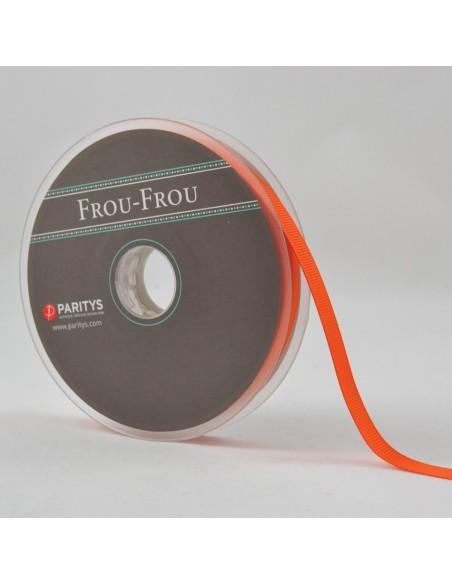 Ruban Gros grain unis 9mm Orange